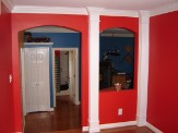 Bright red room D. Dalton Paint