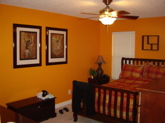 Bold orange room D. Dalton Paint