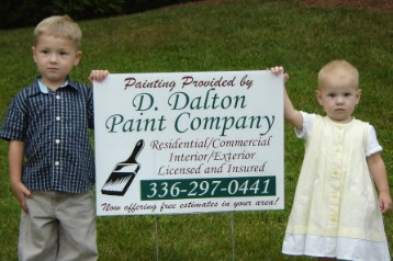 D Dalton Paint picture with children